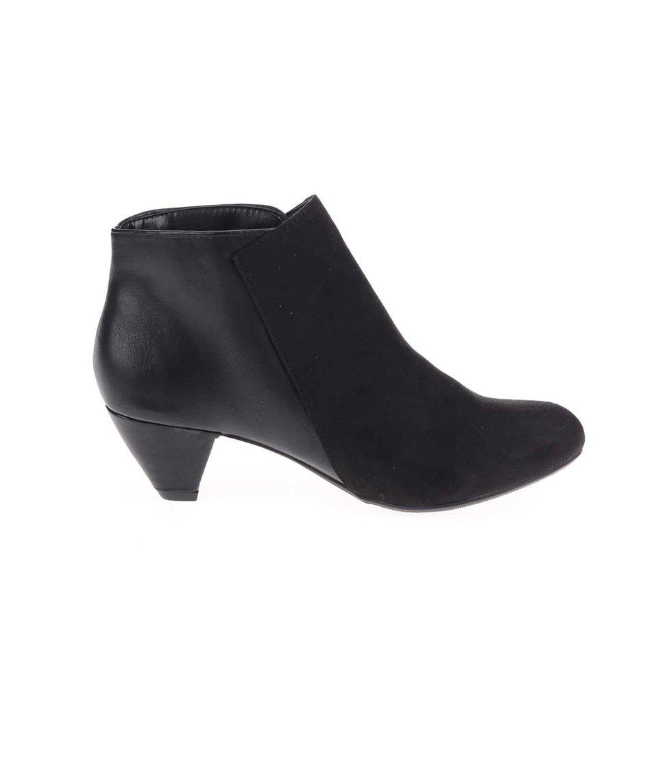 Černé kotníkové boty na nízkém podpatku Dorothy Perkins - Vánoční ... cc45be4d92