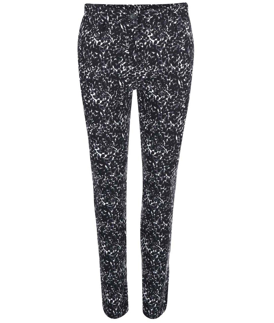 Černé skinny kalhoty s leopardím vzorem Dorothy Perkins