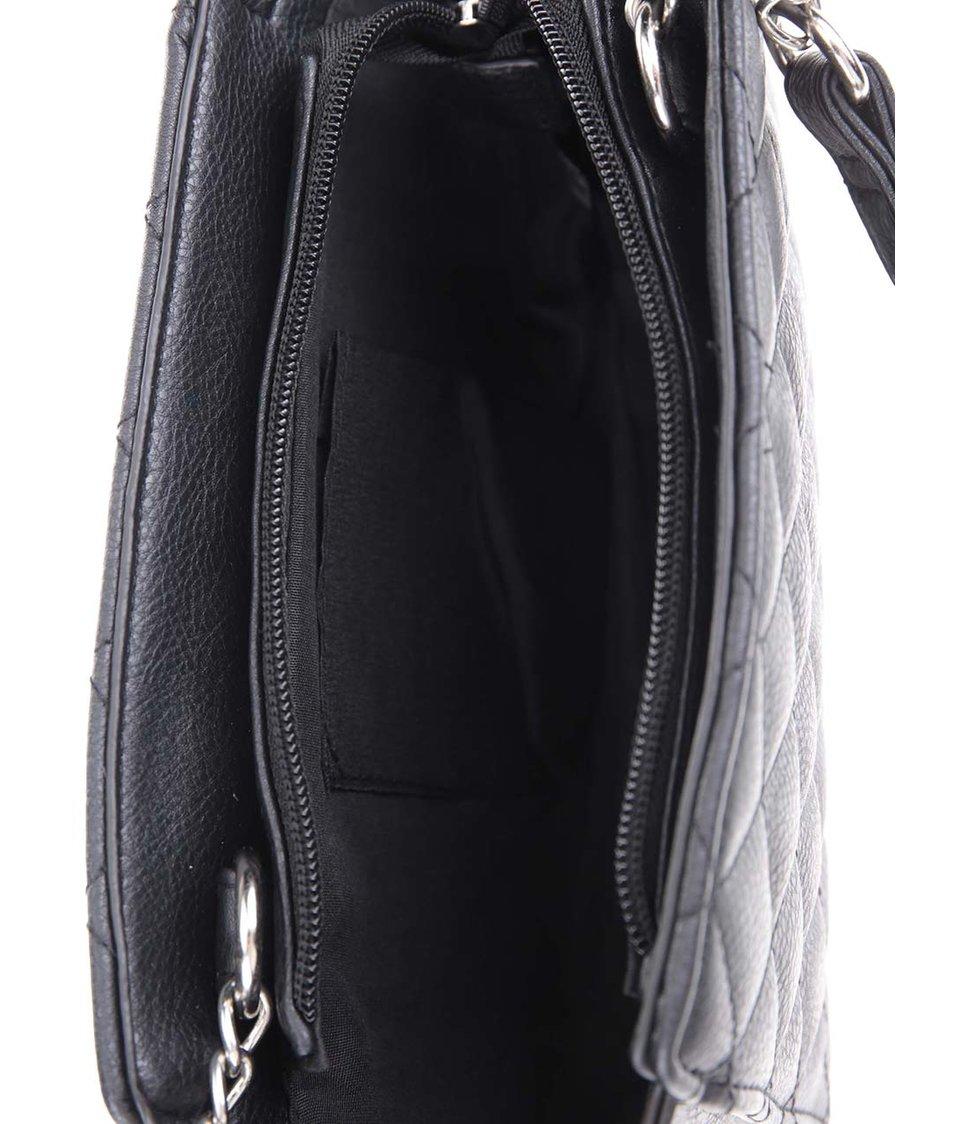 Černá malá prošívaná kabelka Dorothy Perkins