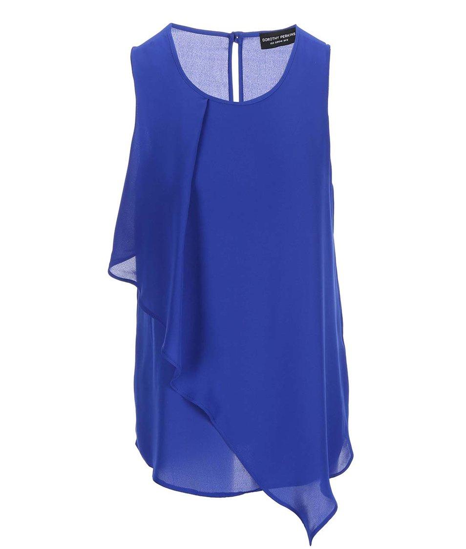 Modrá asymetrická halenka Dorothy Perkins