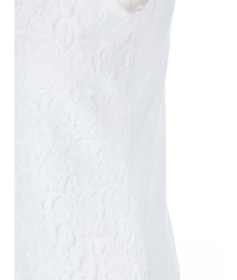 Krémový krajkový top Dorothy Perkins