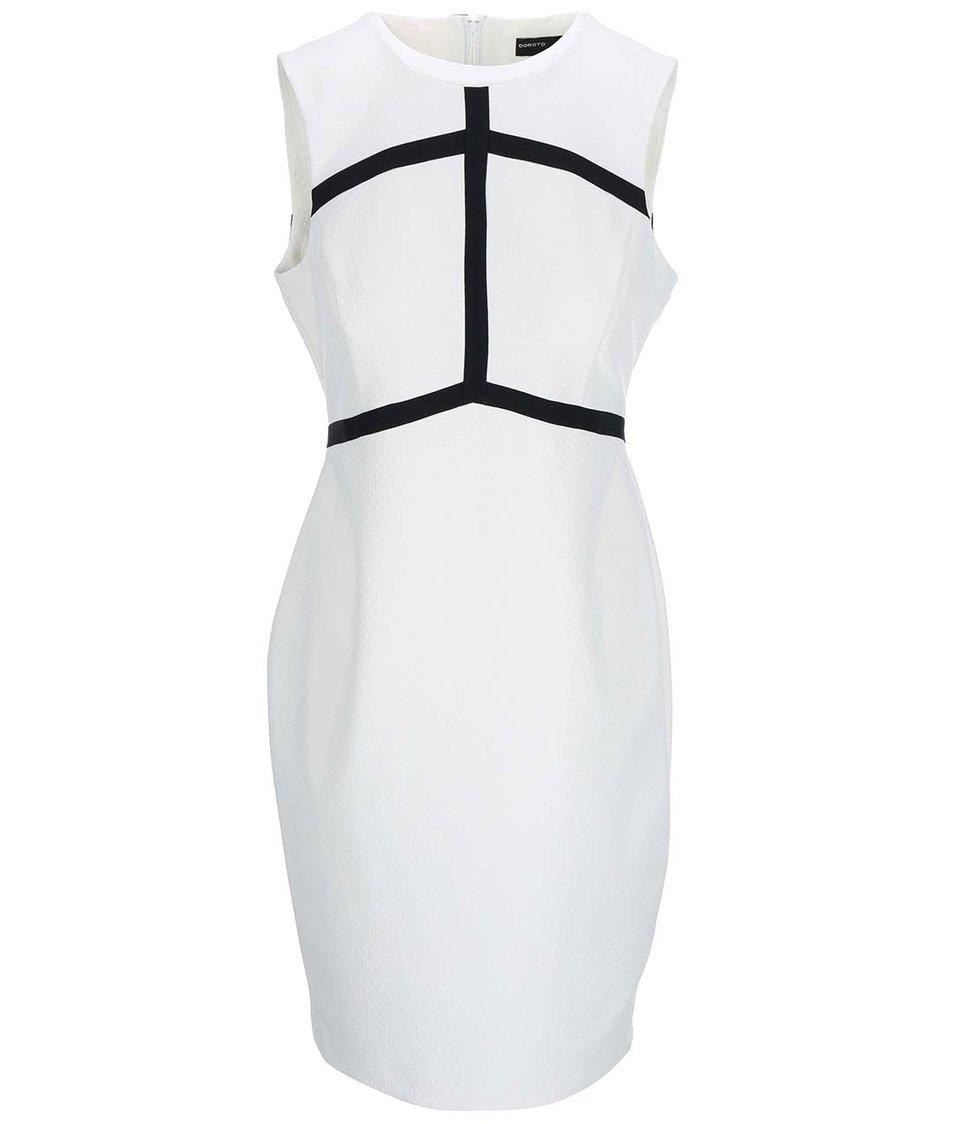 Krémové šaty s pruhy Dorothy Perkins