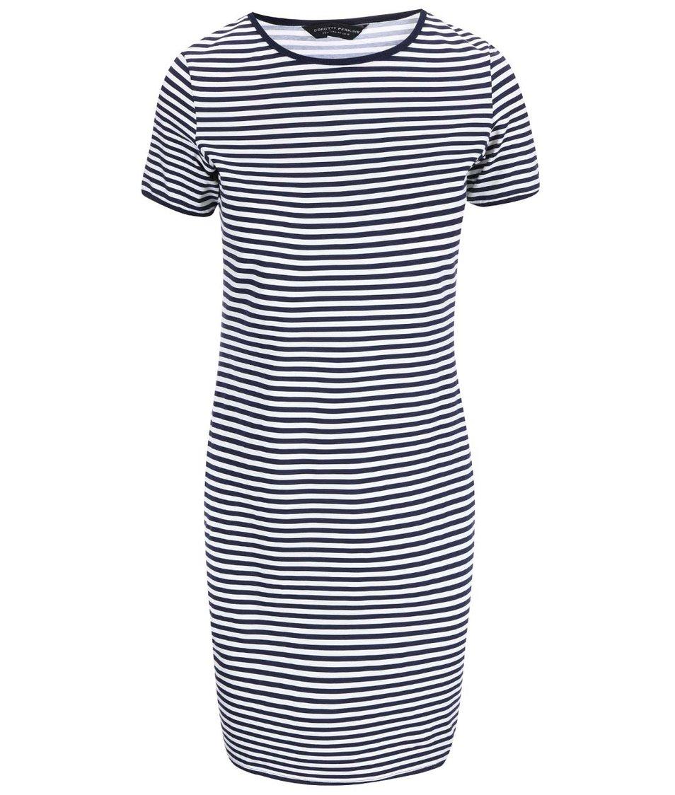 Modro-bílé pruhované šaty Dorothy Perkins