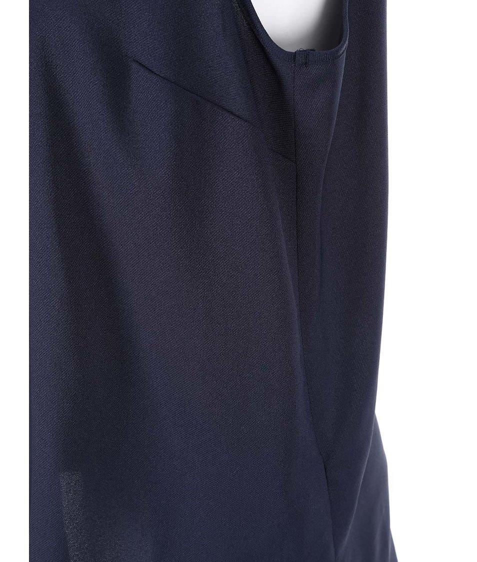Tmavě modrá halenka s límečkem Dorothy Perkins