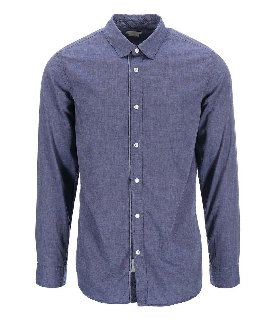 Modrá košile s dlouhým rukávem Selected Heritage