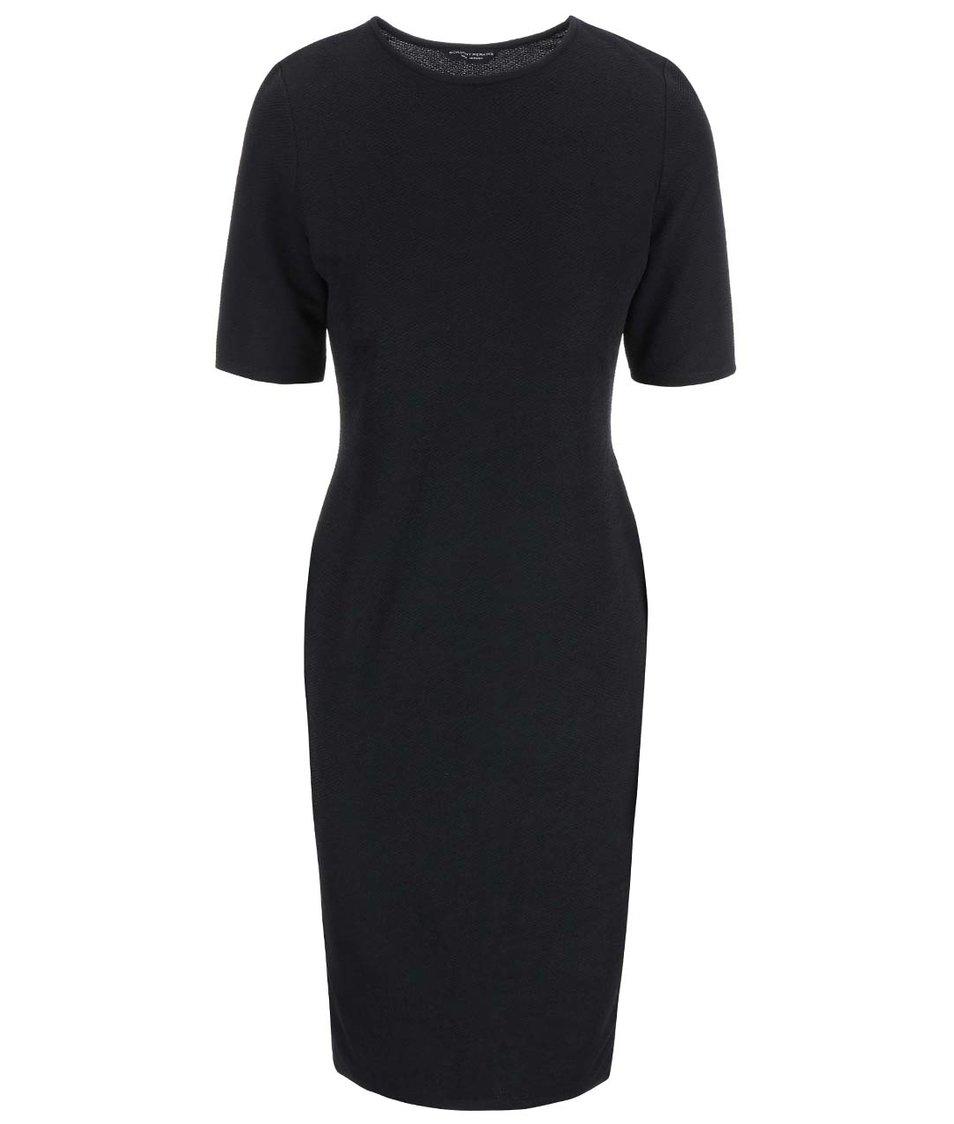 Černé strečové šaty s krátkým rukávem Dorothy Perkins