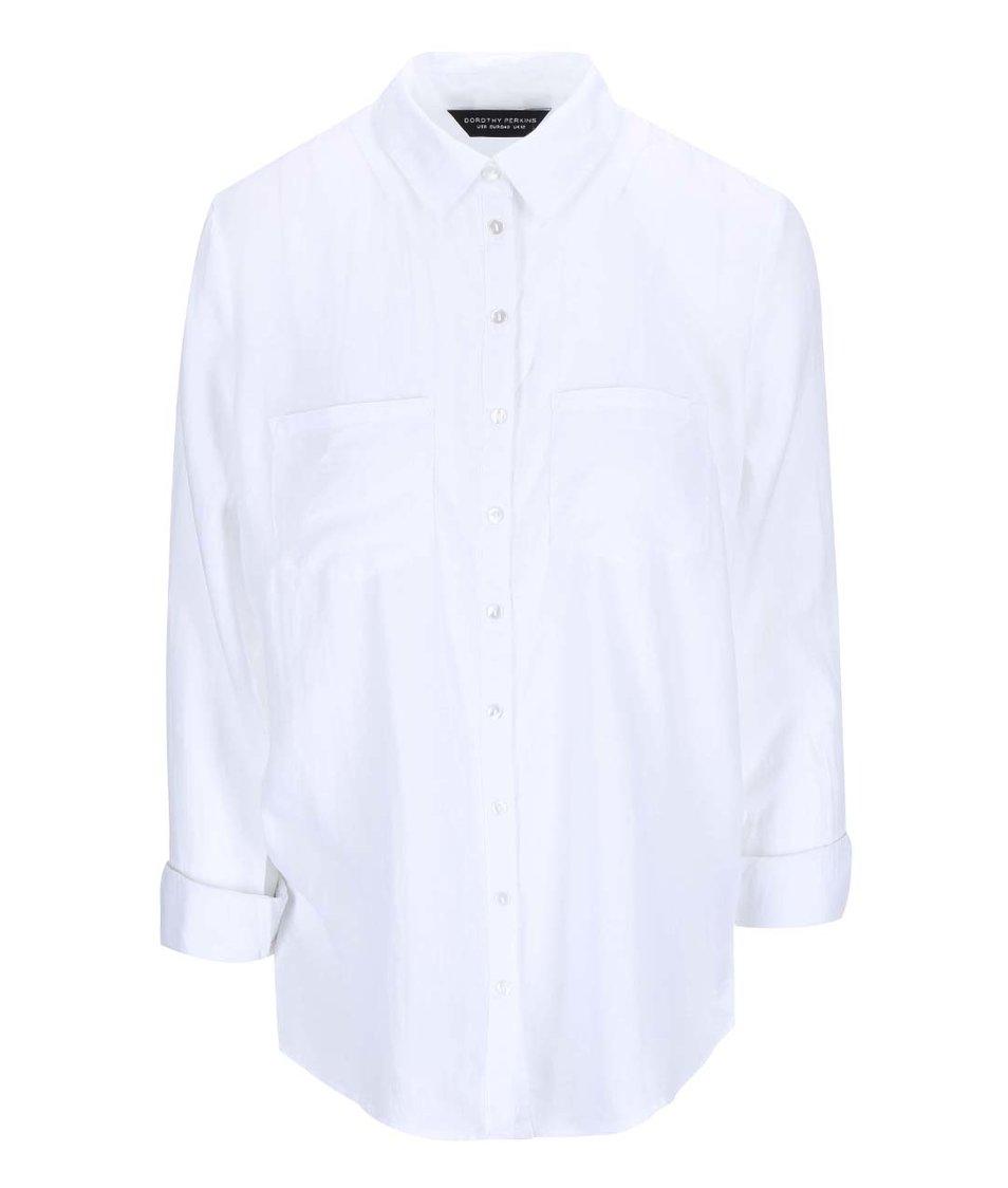 Bílá volnější košile Dorothy Perkins
