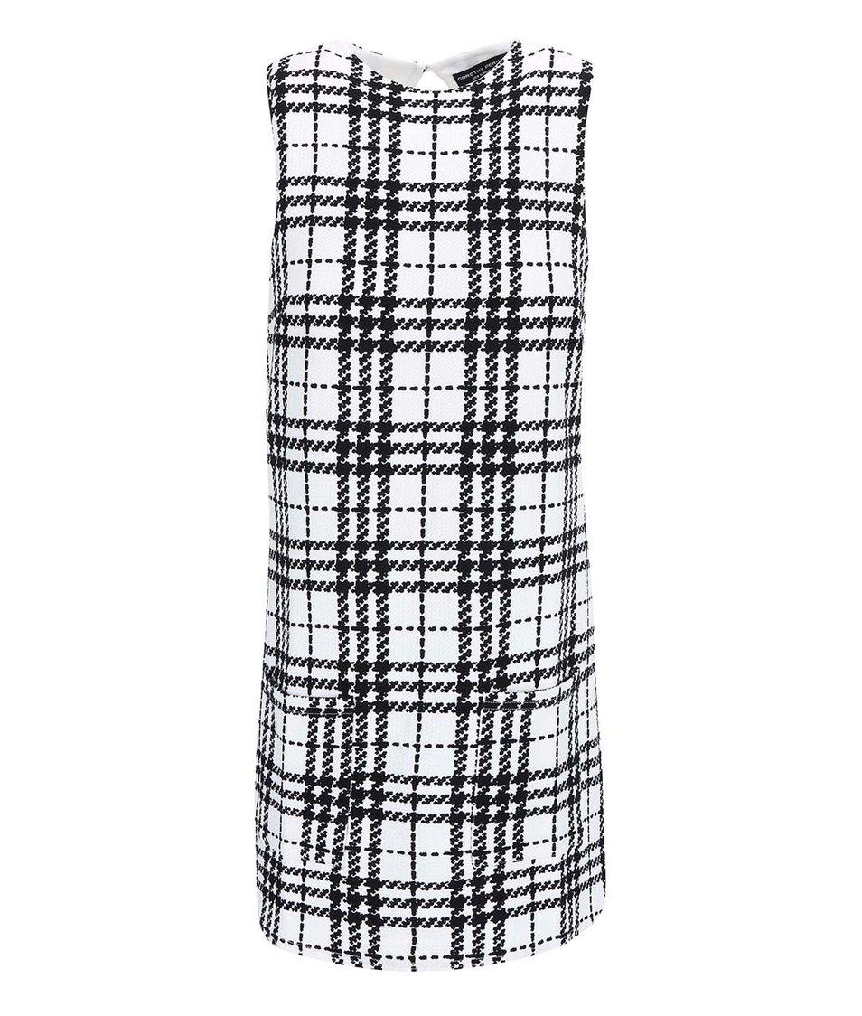 Krémovo-černé kostkované šaty Dorothy Perkins