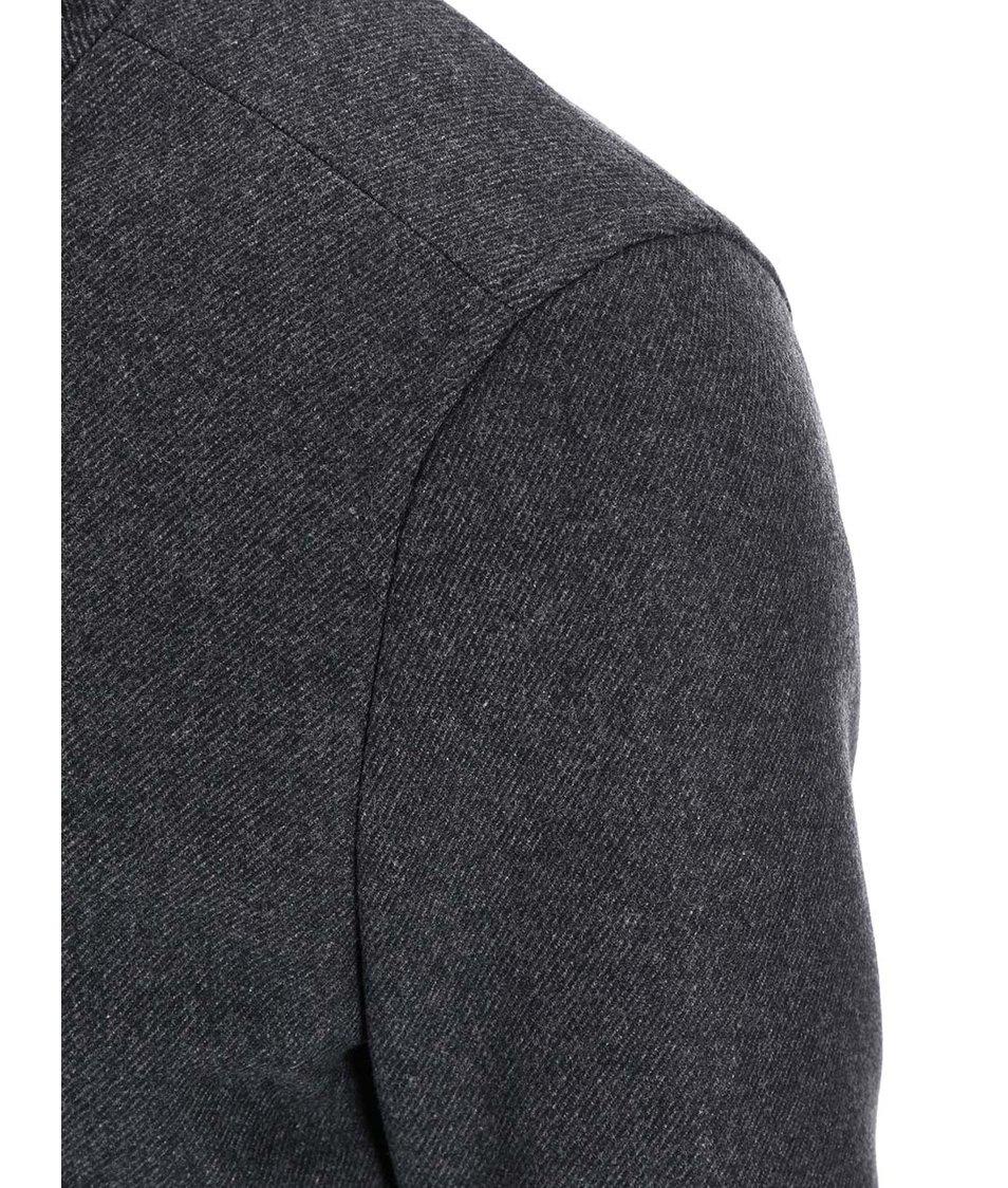 Tmavě šedý kabát Selected Peer