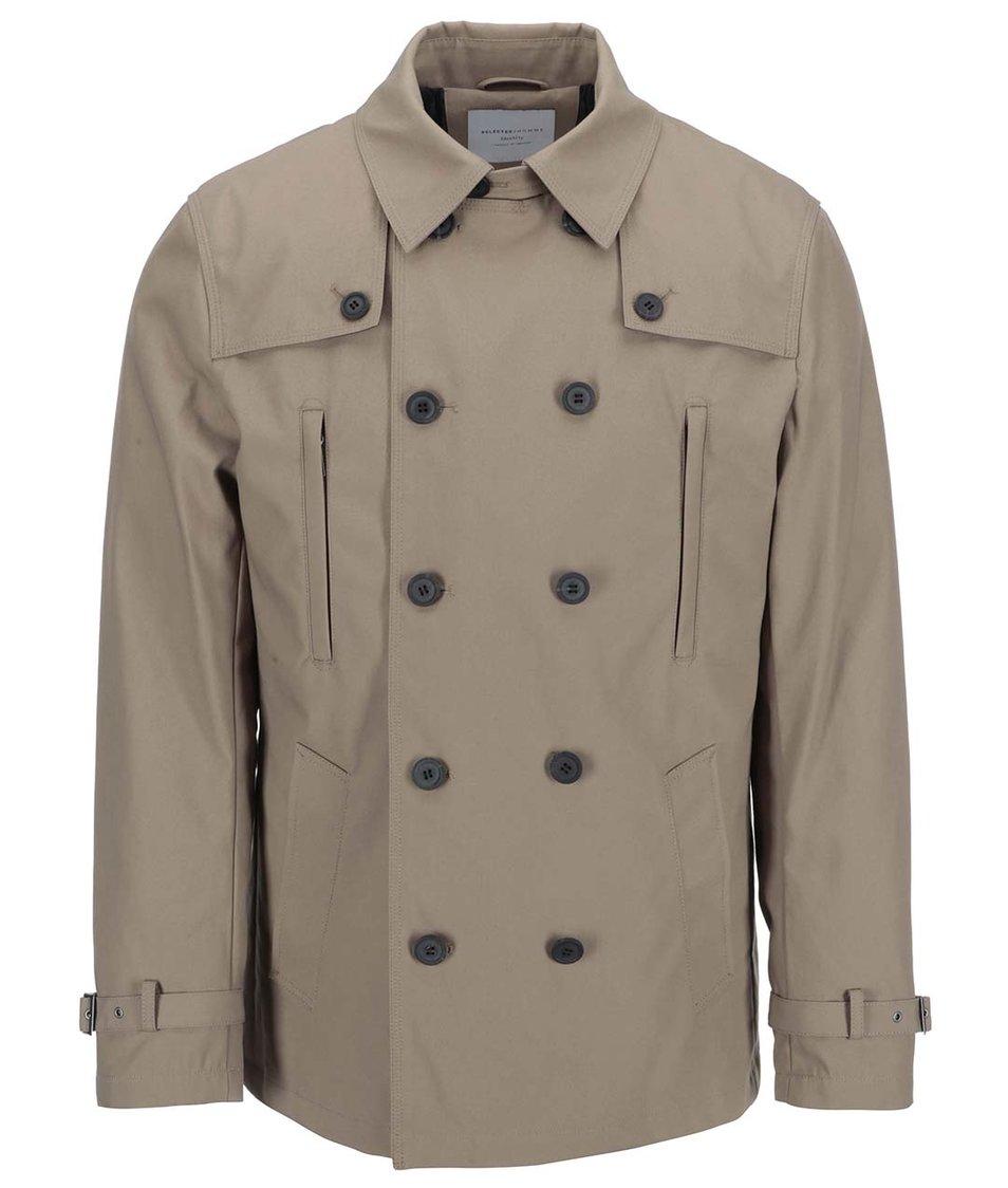 Světle hnědý kabát Selected Bowery