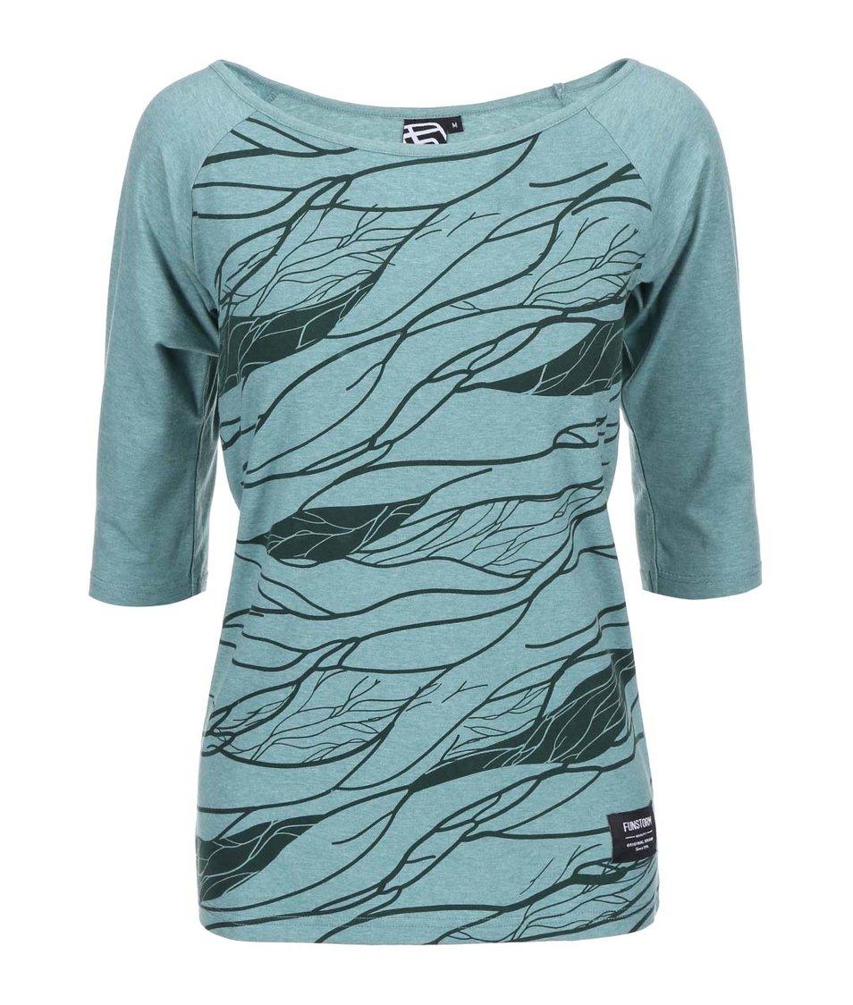 Zelené dámské tričko s potiskem Funstorm Vinsa