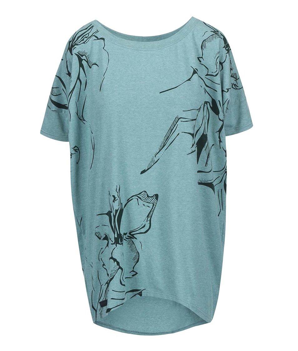 Zelené dámské oversized tričko Funstorm Darra
