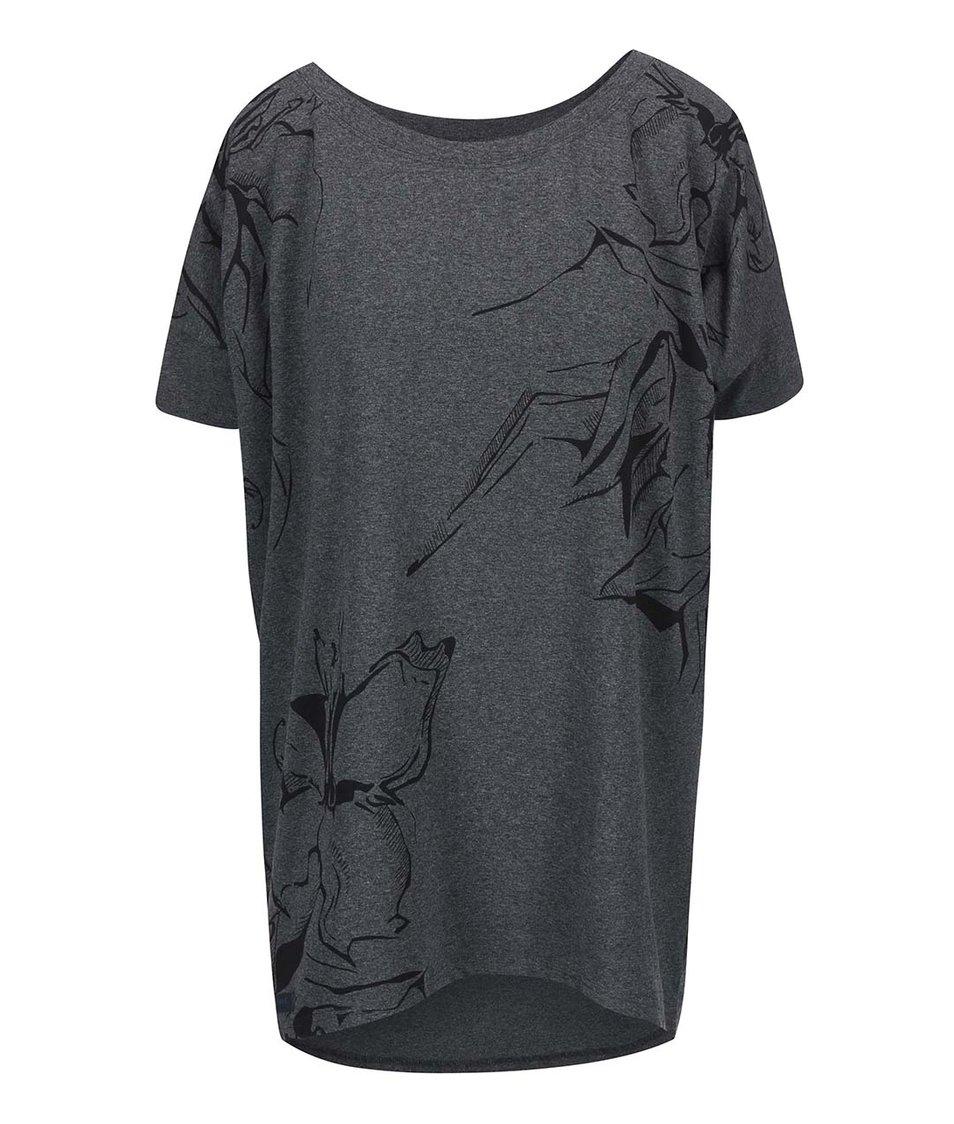 Tmavě šedé dámské oversized tričko Funstorm Darra
