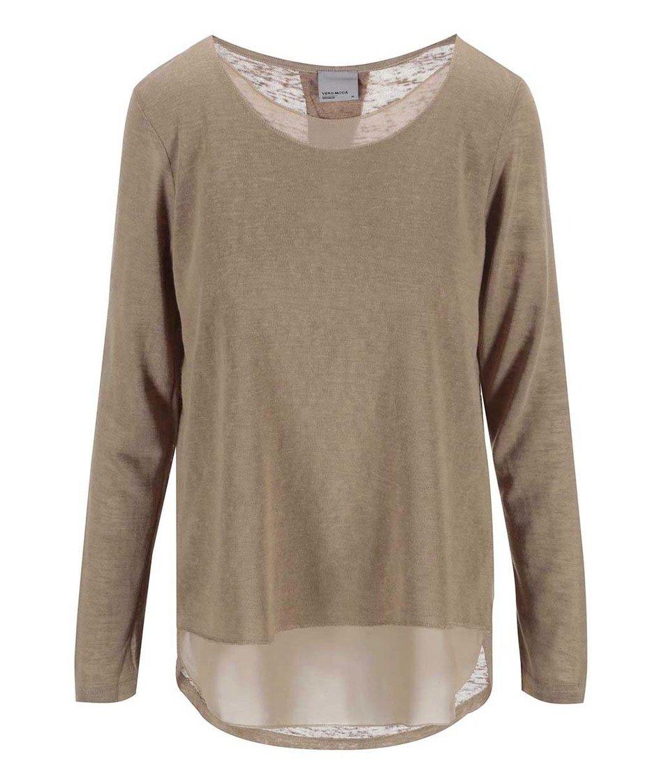 Béžový tenký svetr Vero Moda Emily