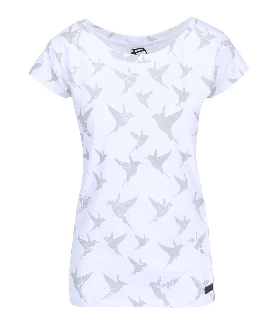 Bílé dámské tričko s ptáčky Funstorm Zela