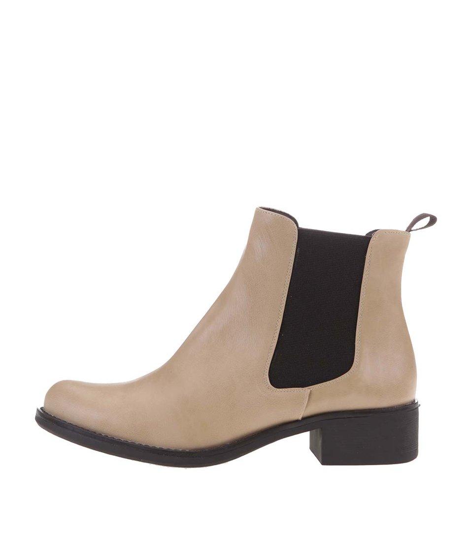 Světle hnědé kotníkové chelsea boty OJJU