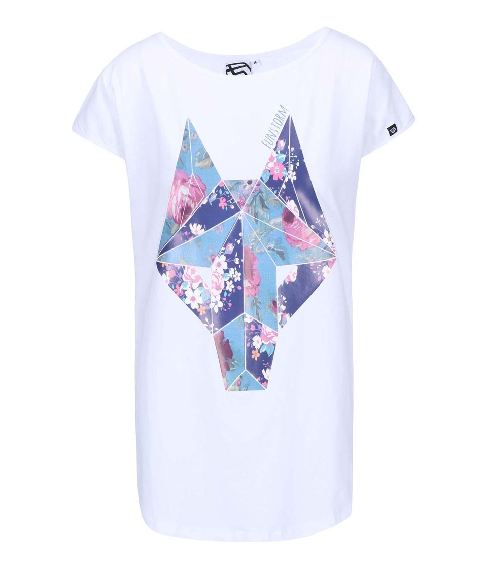 Bílé dámské tričko s potiskem Funstorm Kara