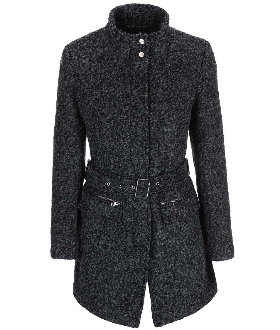 Tmavě šedý kabát ONLY Alanis