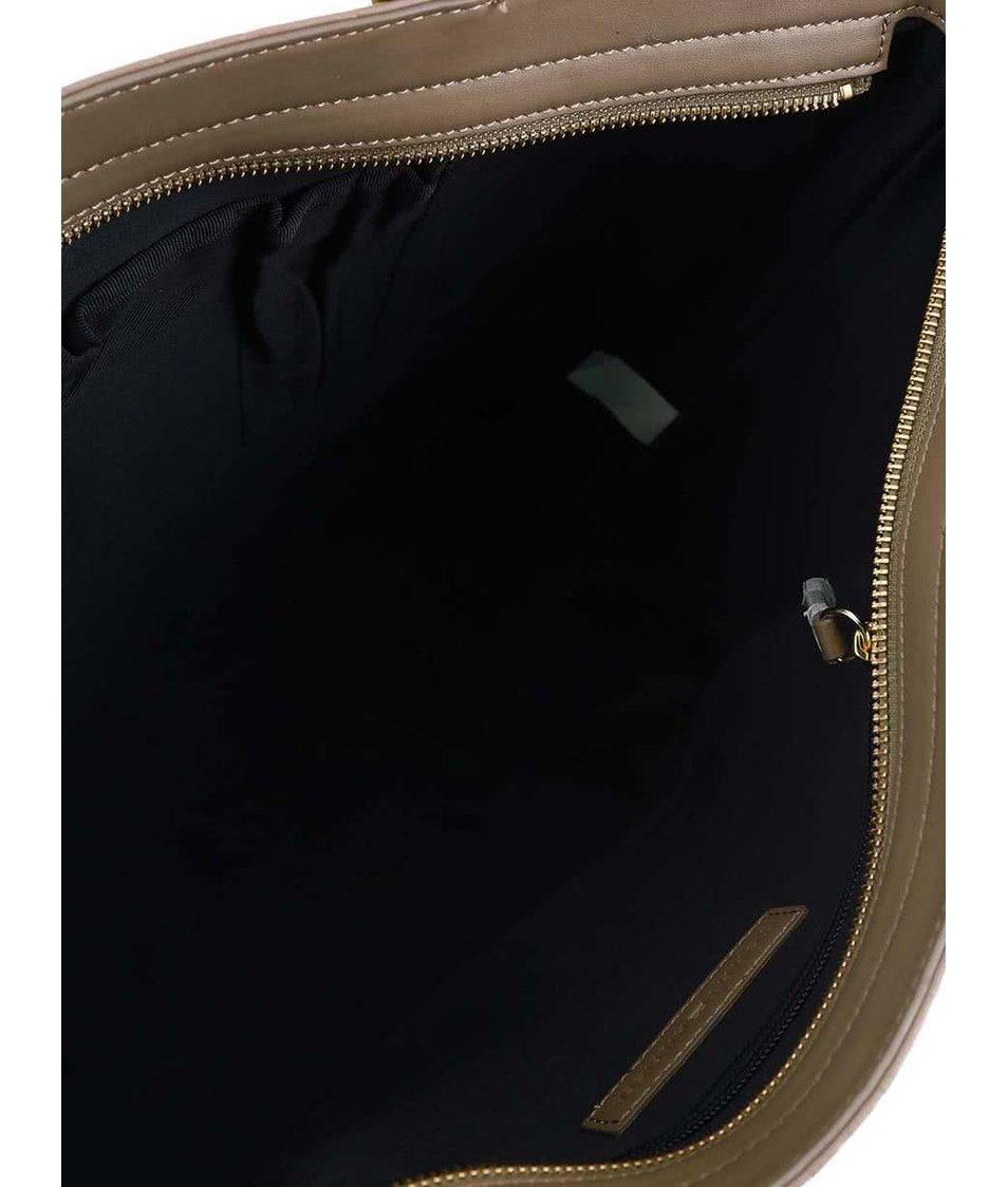 Béžová vzorovaná kabelka Tommy Hilfiger Trisha