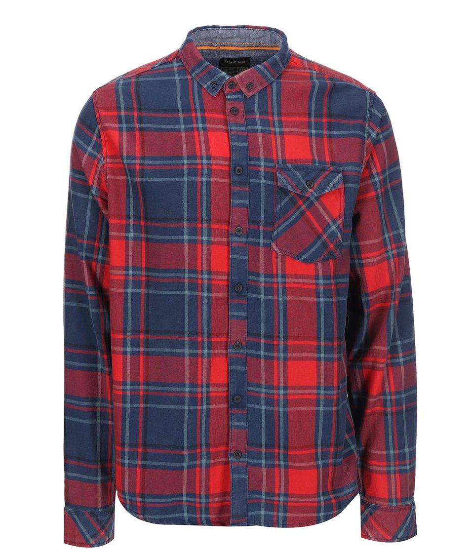Modro-červená kostkovaná košile Blend