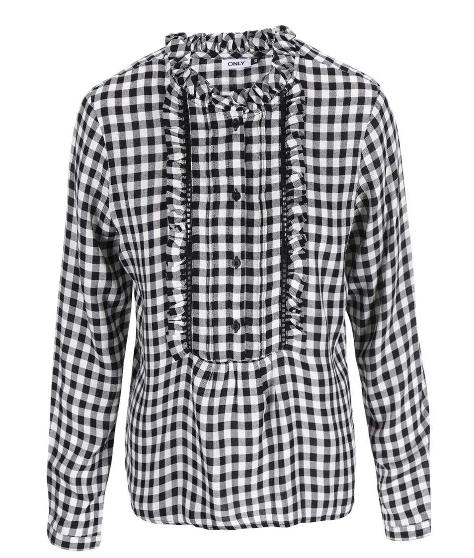 Černo-bílá kostkovaná košile ONLY Hea