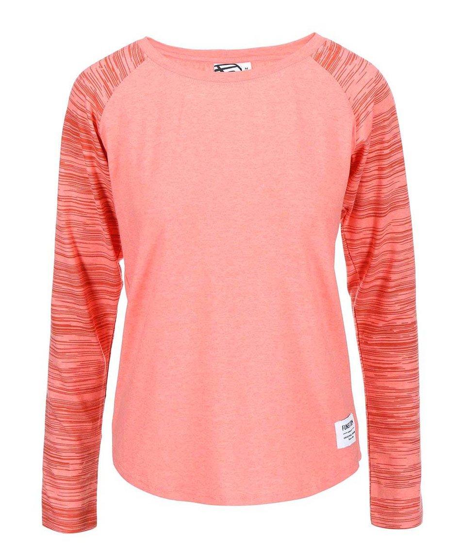 Korálové dámské tričko s dlouhým rukávem Funstorm Devo