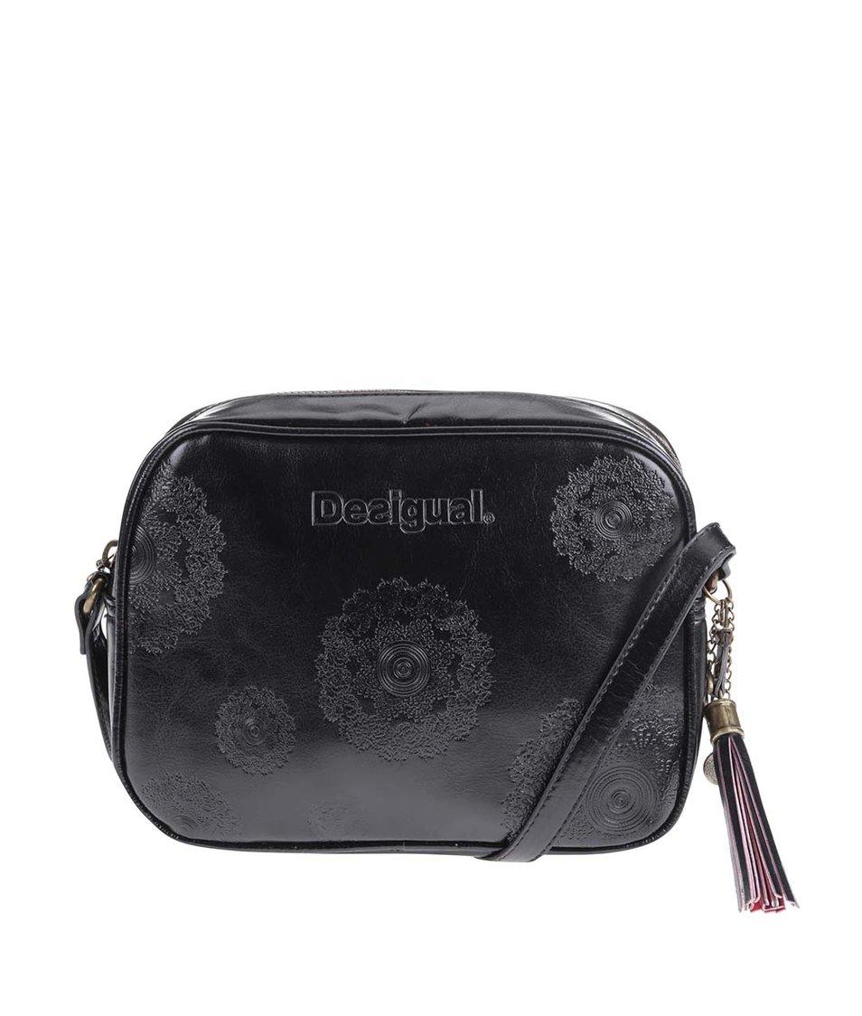 Černá kabelka s ornamenty Desigual Charlotte Neograb