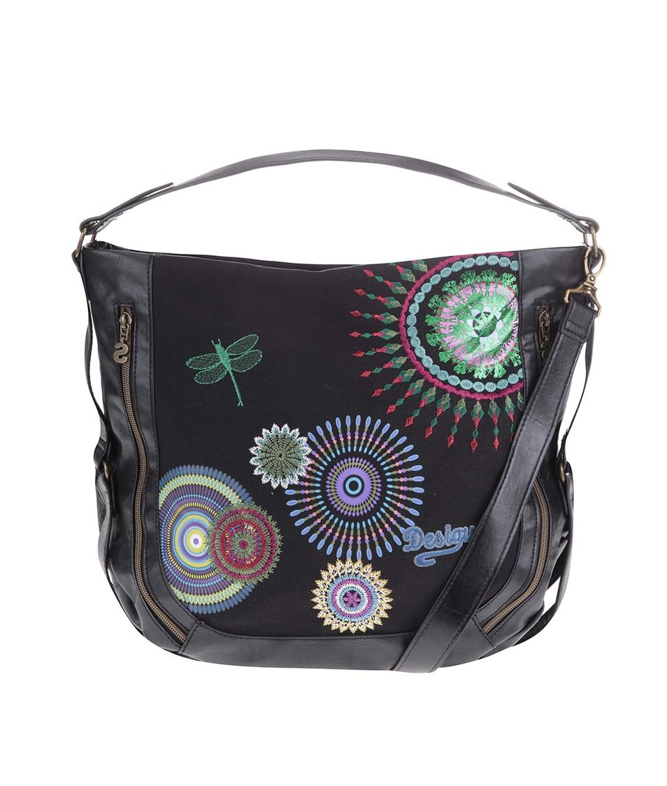 Černá kabelka se vzory Desigual Sevilla Camila