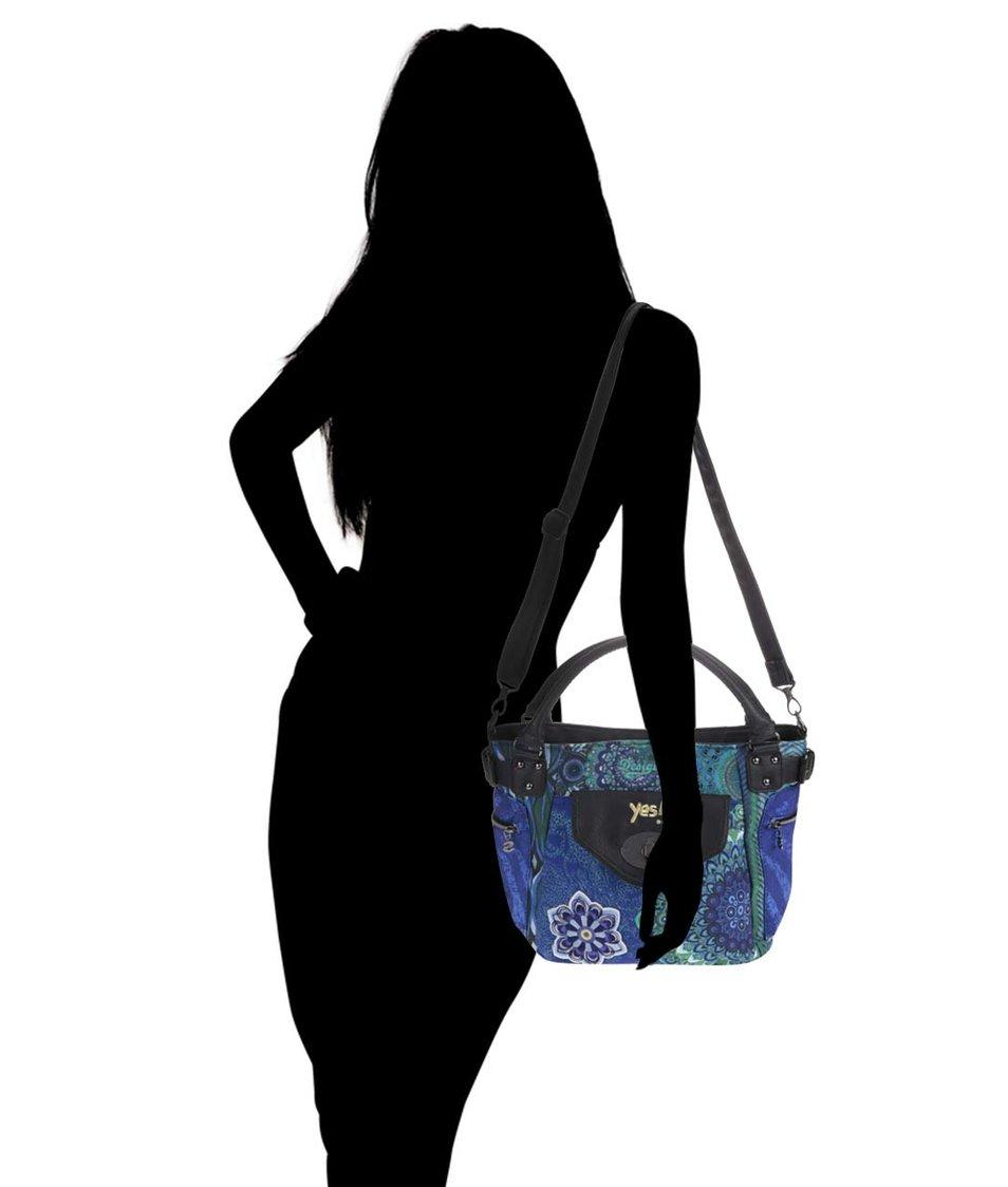 Černo-modrá vzorovaná kabelka Desigual McBee Seduccio