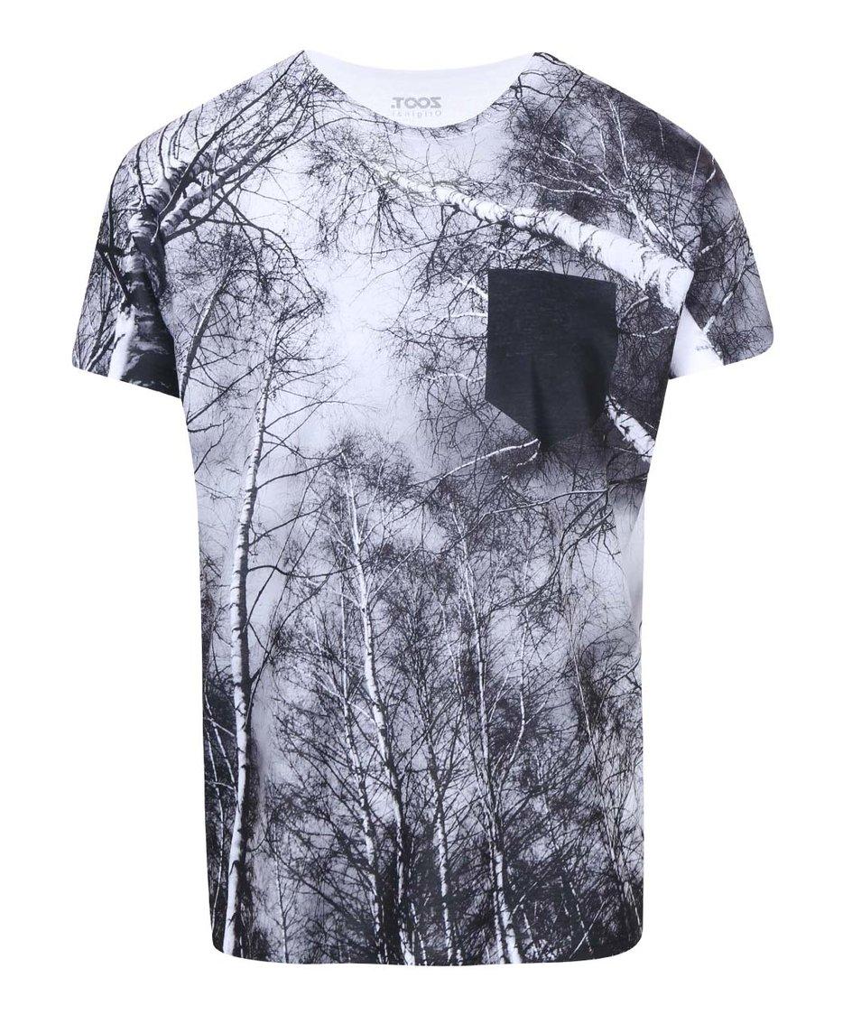 Černo-bílé pánské triko ZOOT Originál Stromy