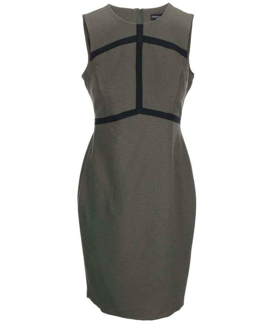 Khaki šaty s pruhy Dorothy Perkins
