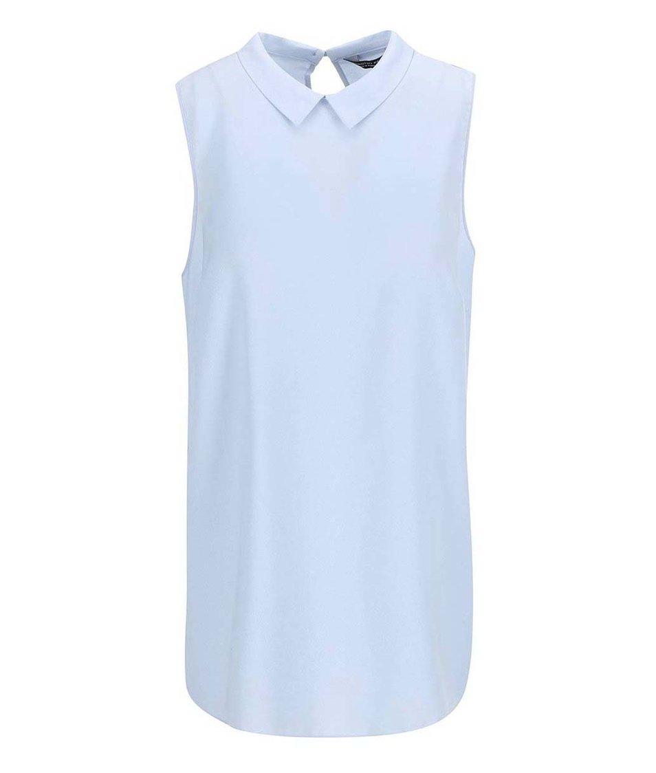 Světle modrá halenka s límečkem Dorothy Perkins