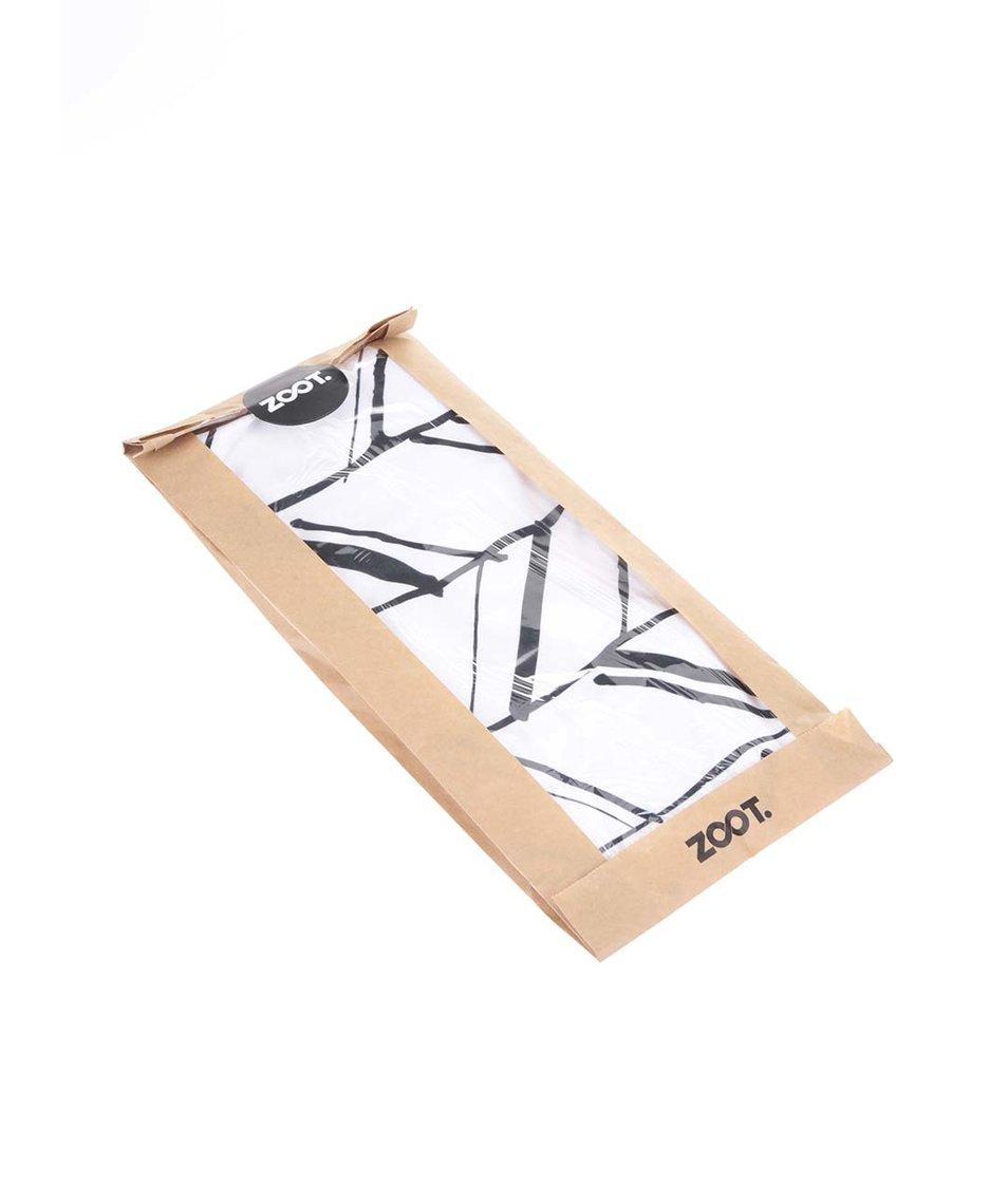 Černo-bílé pánské triko ZOOT Originál Linky do trojúhelníku