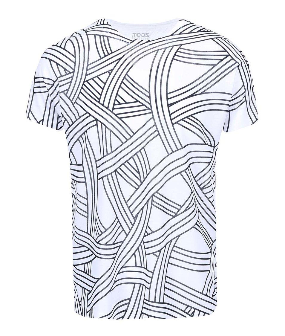 Černo-bílé pánské triko ZOOT Originál Provazy