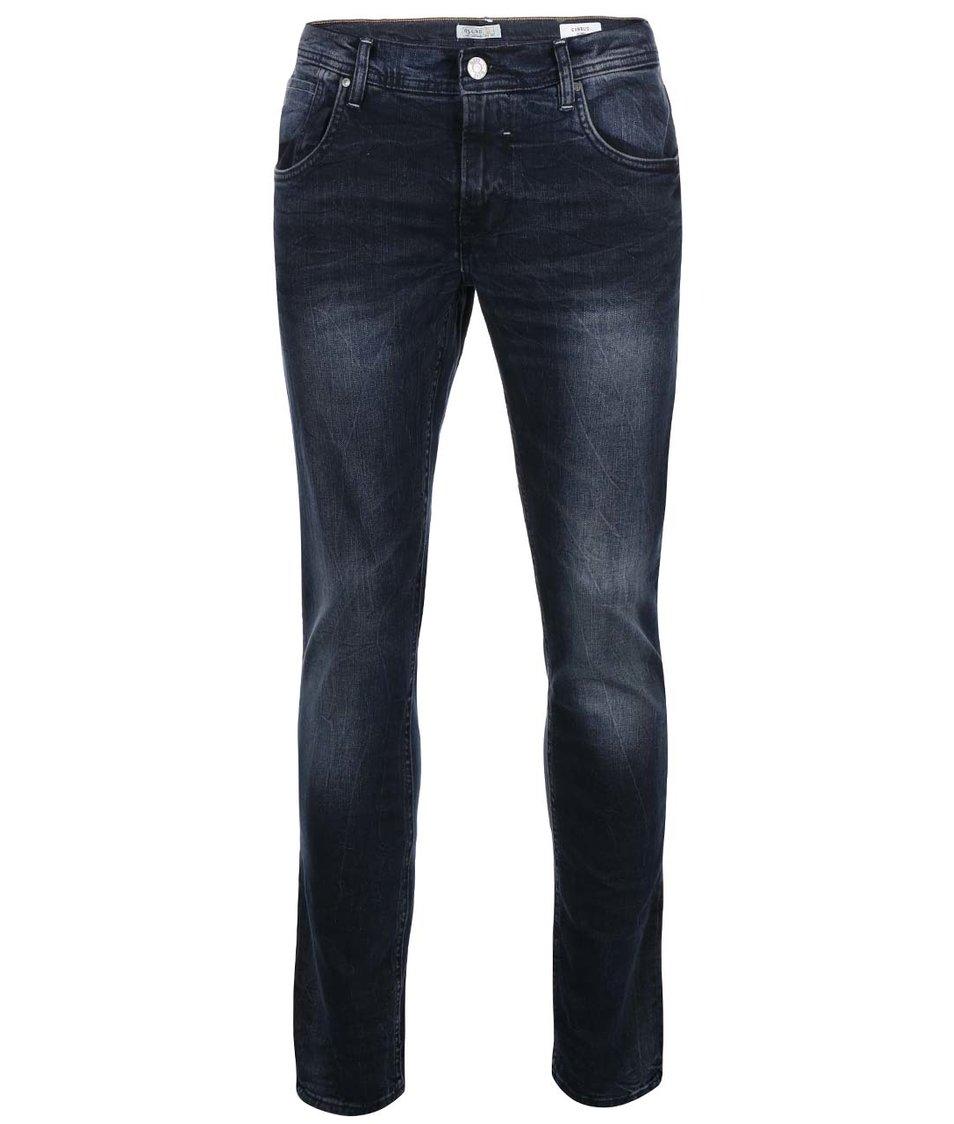 Tmavě modré pánské skinny džíny s ošoupaným efektem Blend