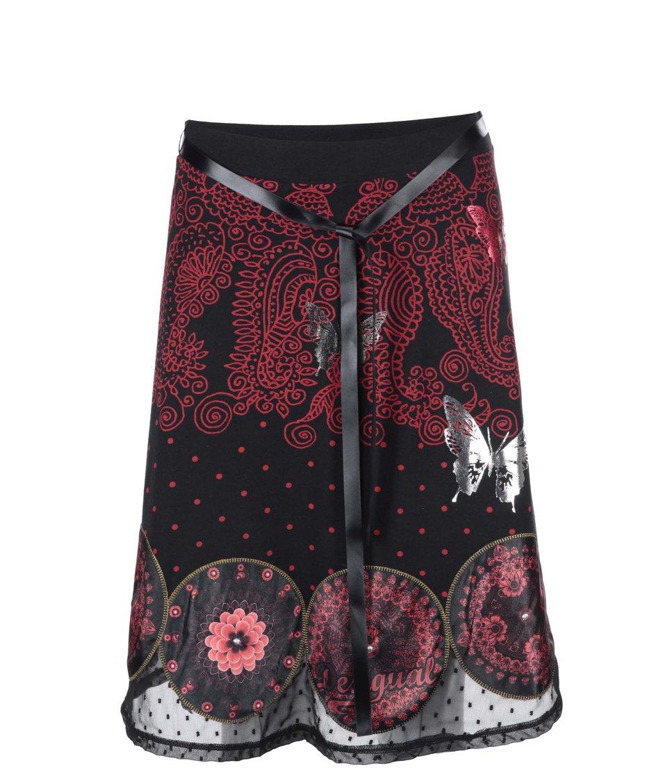 Černá sukně se vzorem Desigual Cordelia