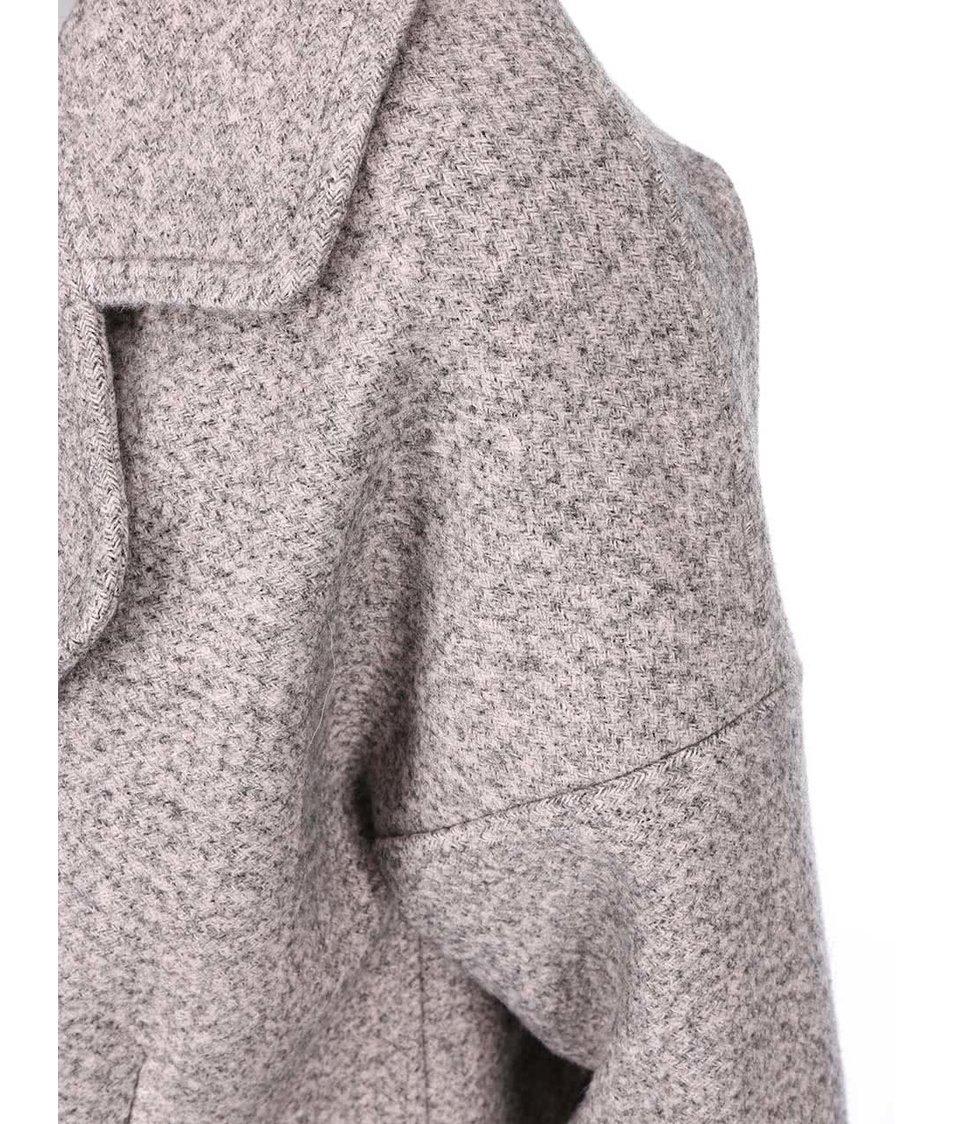 Šedo-růžový kabát Lavand