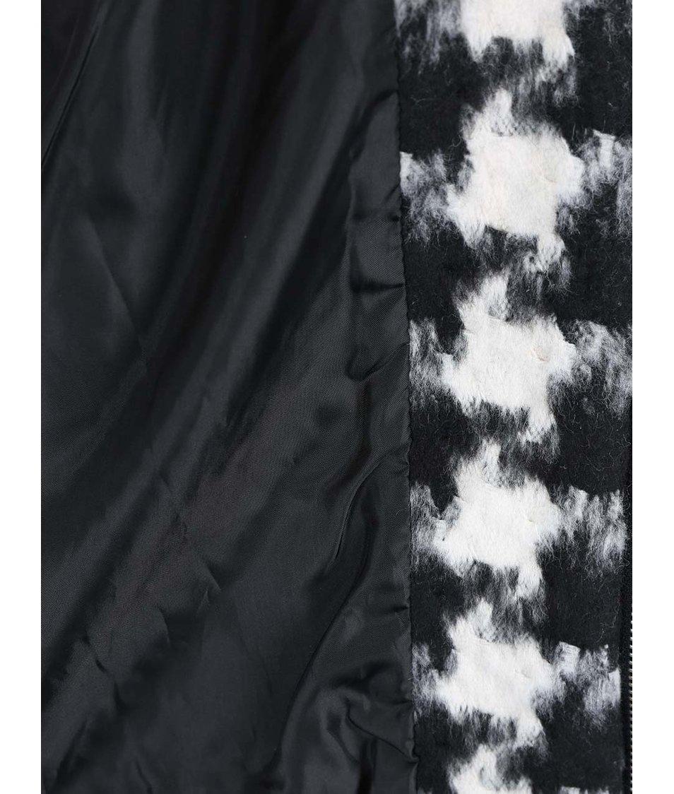 Bílo-černý kabát se vzorem kohoutí stopy ICHI Seoul