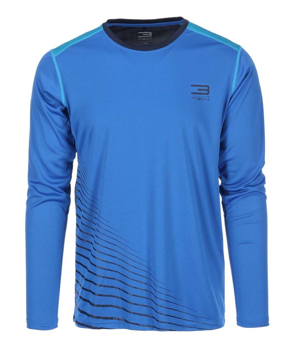 Modré sportovní triko s dlouhým rukávem Jack & Jones Tech Journey