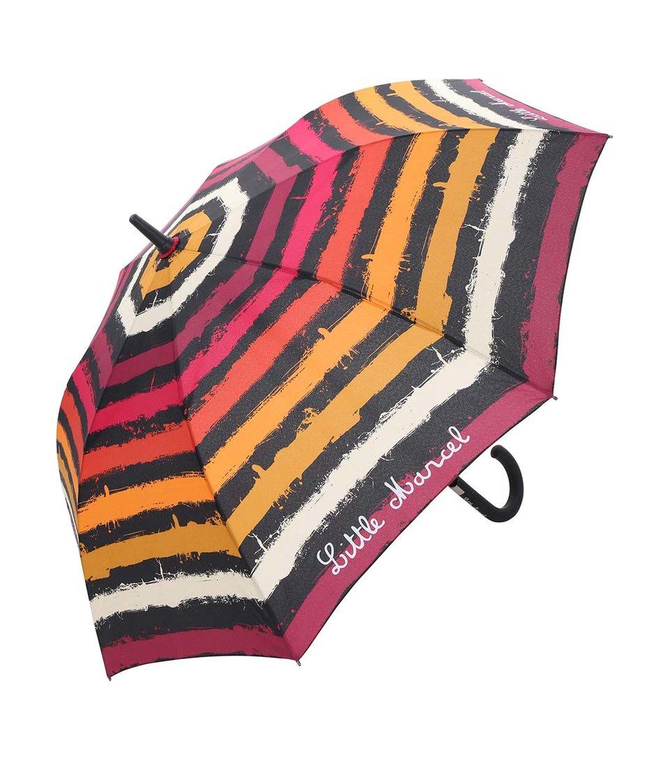 Velký barevný pruhovaný deštník Little Marcel