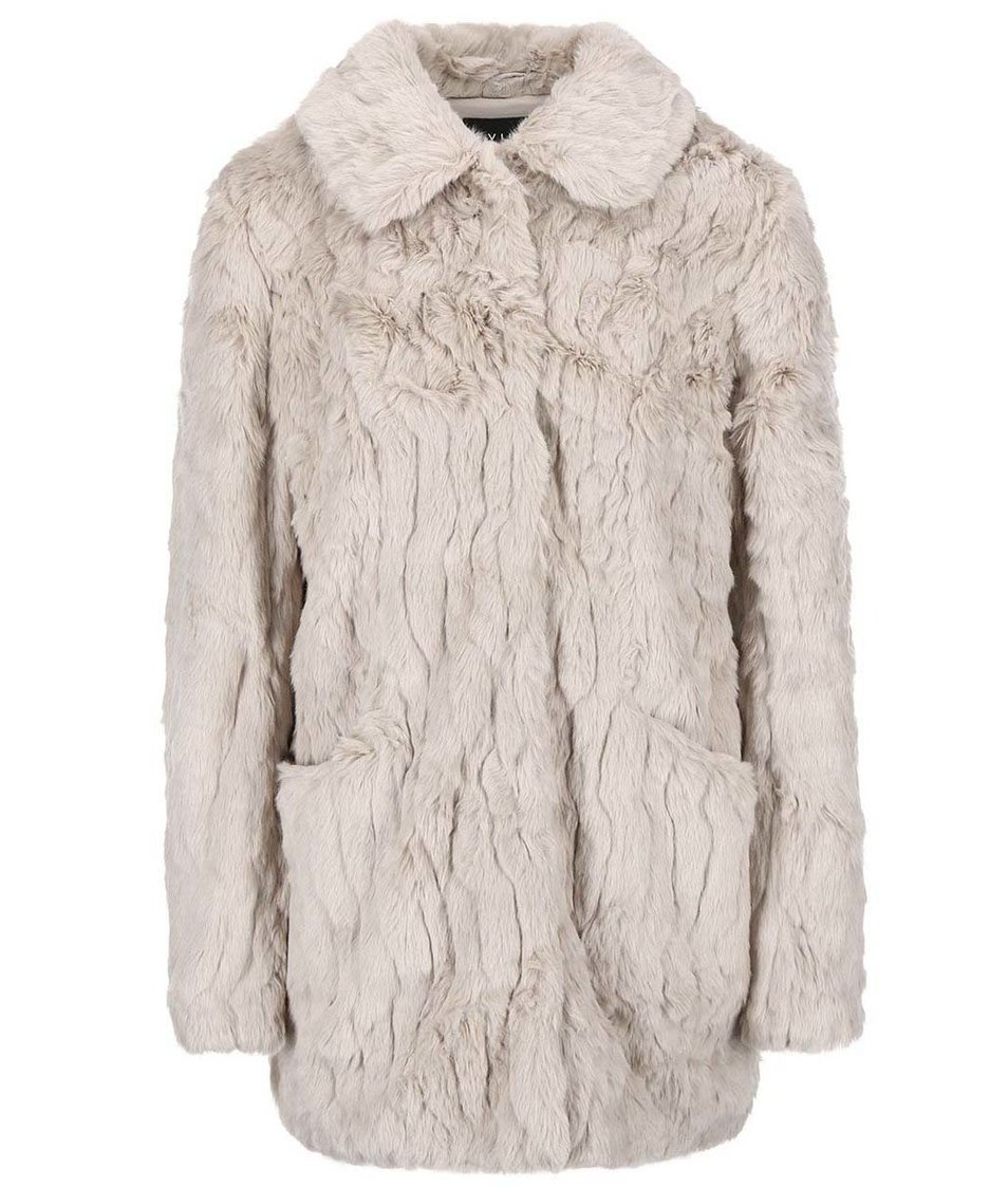 Béžový kabát VILA Perlie