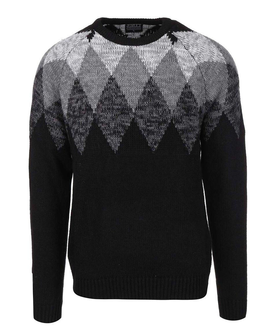 Černý pletený svetr D-Struct Lundy