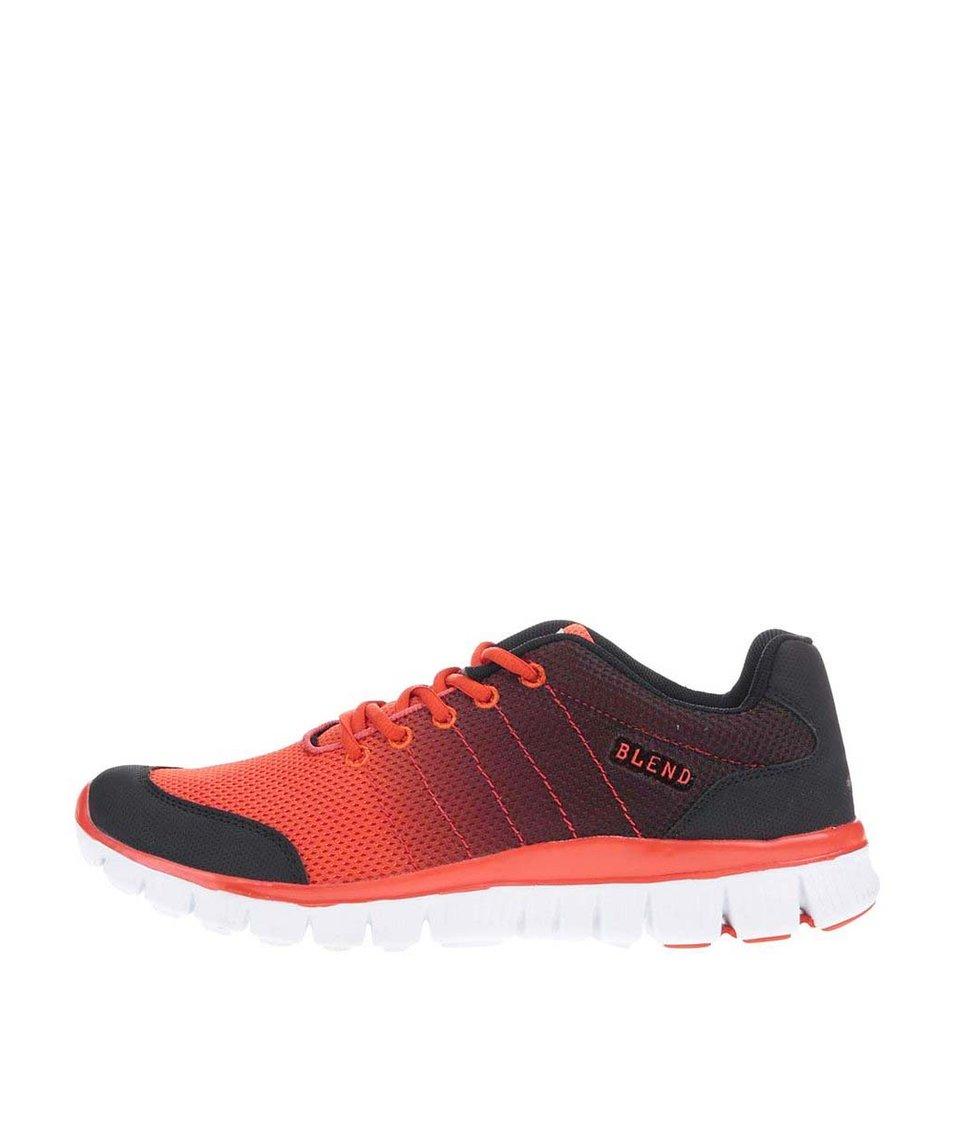 Černo-oranžové sportovní tenisky Blend
