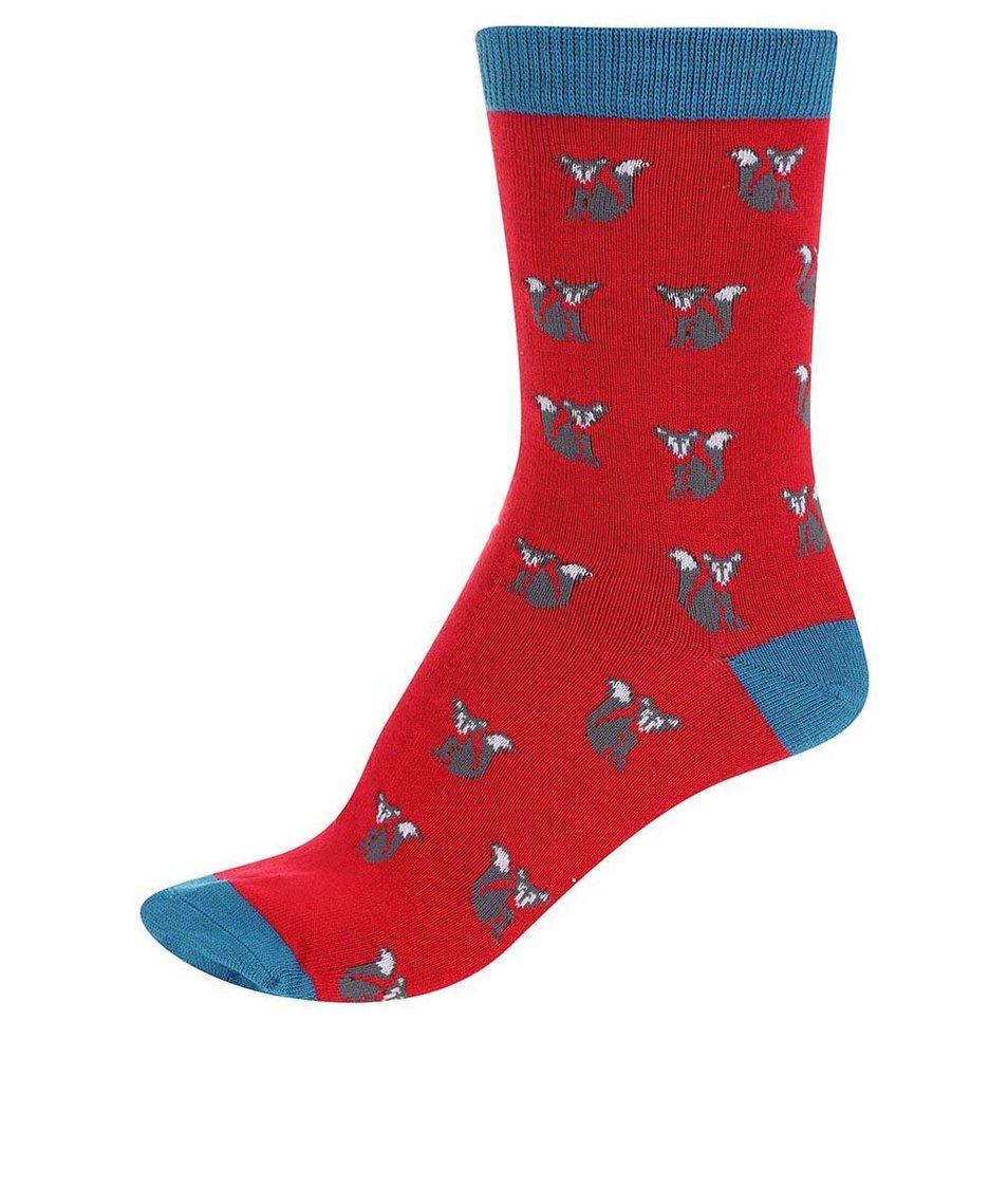 Červené dámské bambusové ponožky Braintree Foxy