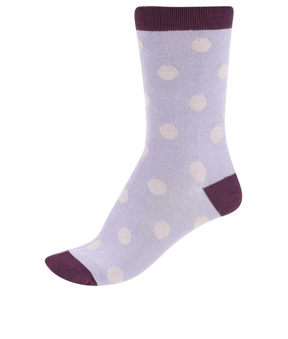 Fialové dámské bambusové ponožky Braintree Kolet Spot