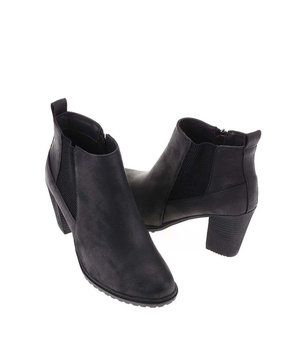 Černé kotníkové boty na podpatku La Push