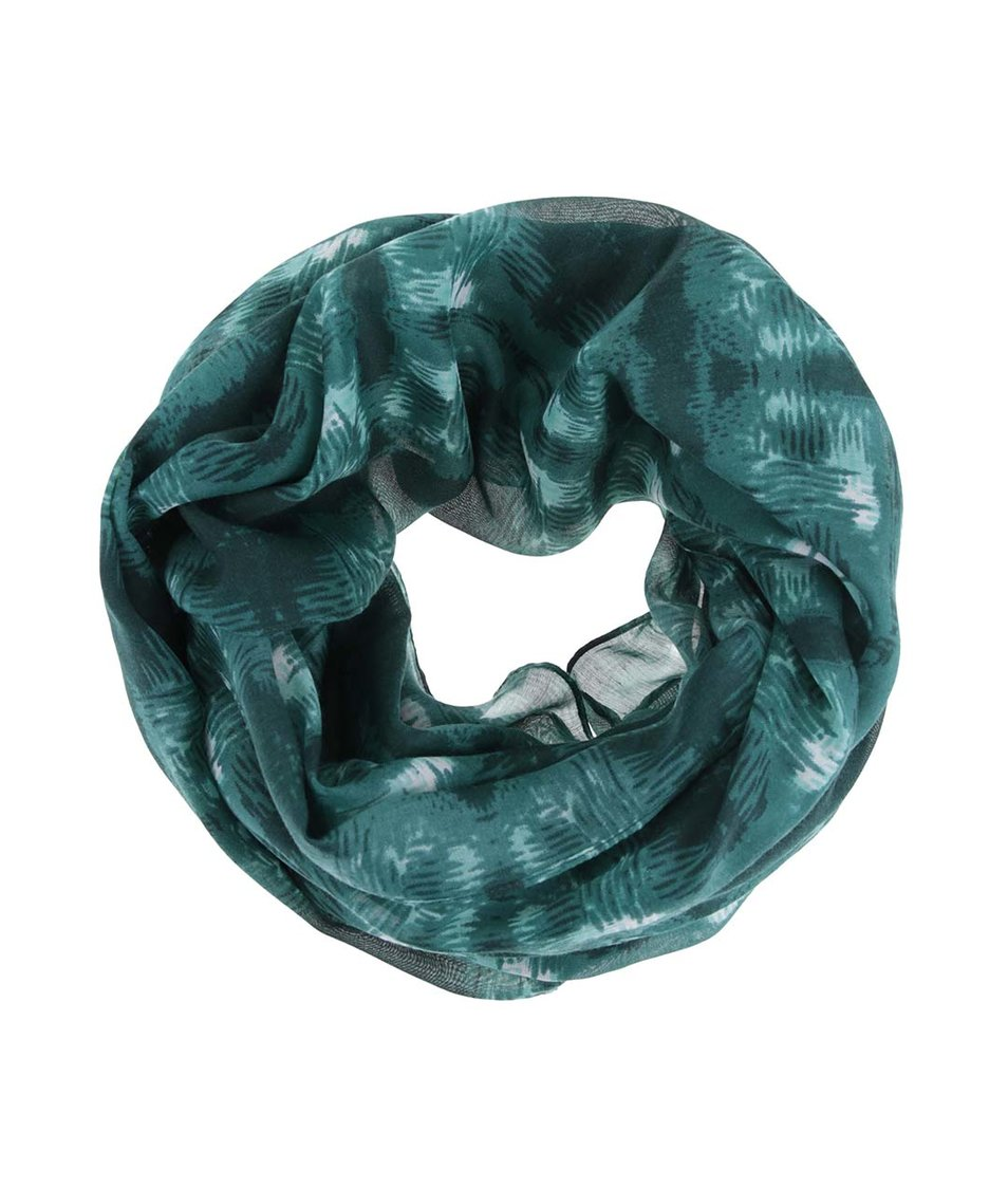 Zelený dutý šátek se vzorem Pieces Vanda