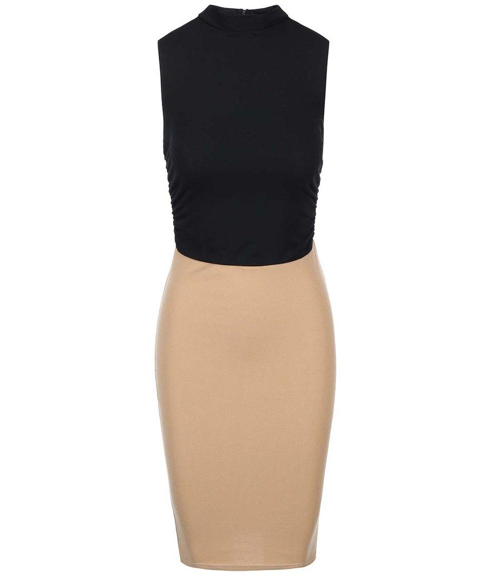 Černo-béžové rolákové šaty AX Paris