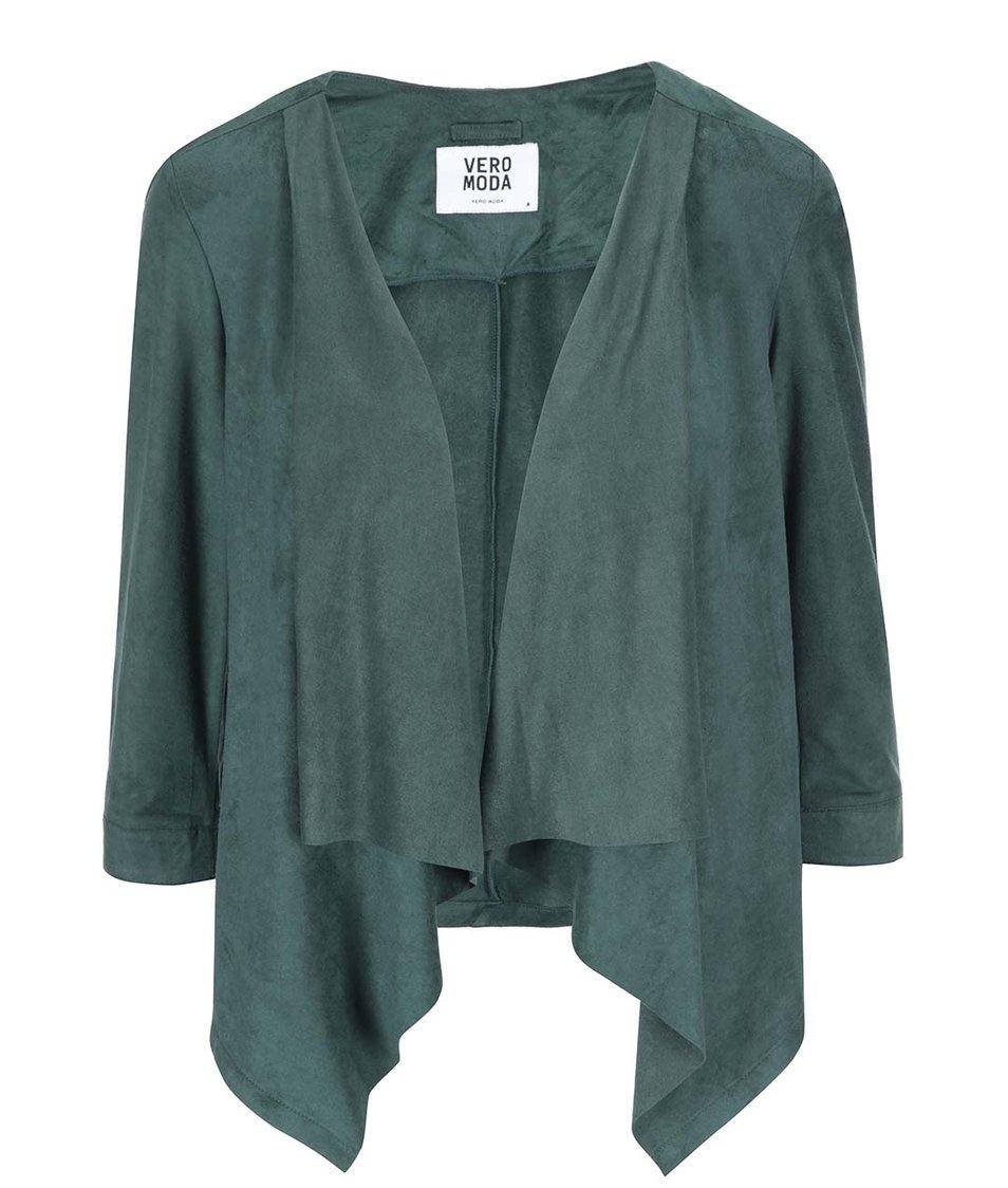 Tmavě zelený blejzr s 3/4 rukávy Vero Moda Kerry