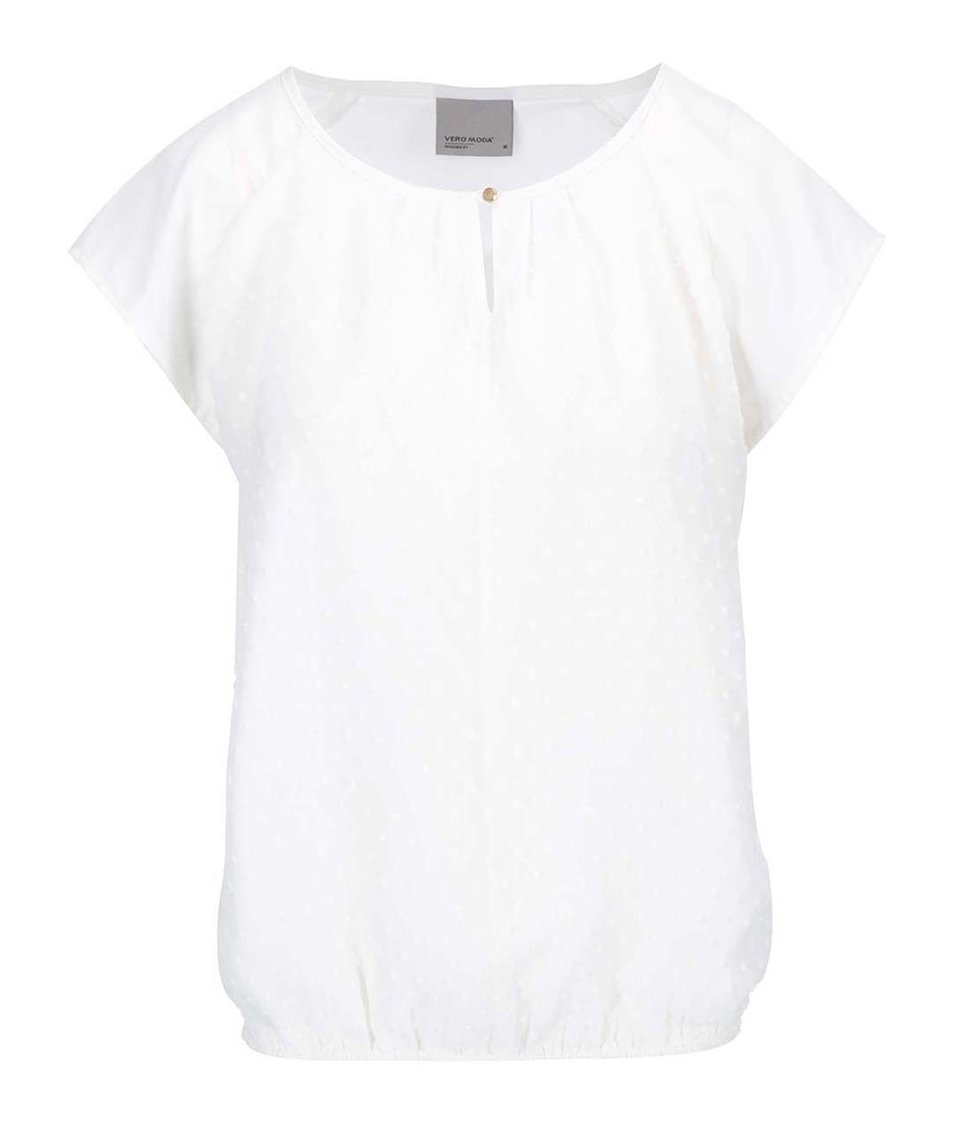 Bílý volnější top Vero Moda Dorisa